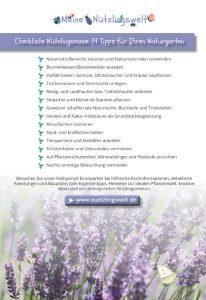 Chckliste Naturgarten anlegen - Tipps für den naturnahen Garten