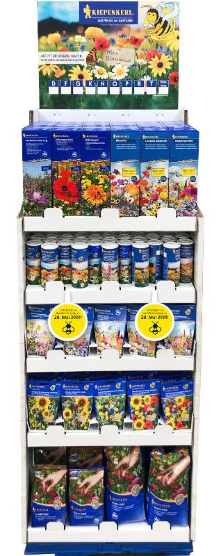 Warenträger von Kiepenkerl mit bienenfreundlichen Produkten